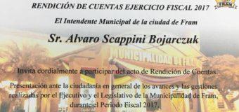AUDIENCIA PUBLICA – RENDICIÓN DE CUENTAS 2017.