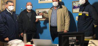 ENTREGA DE APORTE AL CUERPO DE BOMBEROS VOLUNTARIOS DE FRAM.