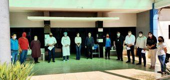 Grata visita en el Hospital Distrital