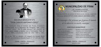 INAUGURACIÓN DE OBRAS FONACIDE – ESC. DON CARLOS ANTONIO LOPEZ.
