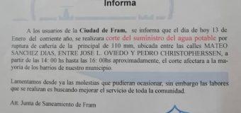 JUNTA DE SANEAMIENTO INFORMA A LA CIUDADANÍA.