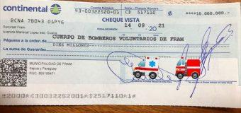 CUMPLIMOS CON LOS BOMBEROS VOLUNTARIOS DE NUESTRA COMUNIDAD!!